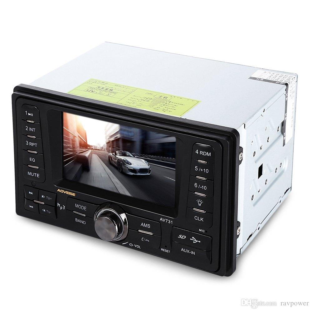 AV731 4.3 Inch Car Audio Stereo 12V Auto Vid car dvd eo AUX FM USB SD MP3 Player