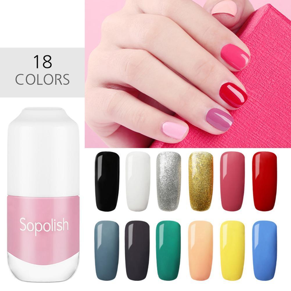 New 8ml Nail Art Nail Polish Shiny Quick Dry Solid Color Stamping ...