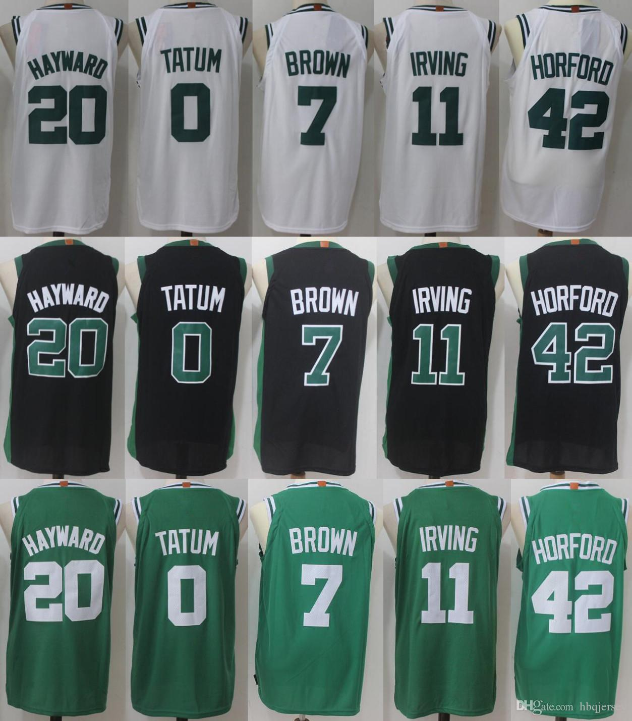 separation shoes c2ab0 91f45 11 Kyrie Irving Jerseys 0 Jayson Tatum 42 Al Horford 20 Gordon Hayward 7  Jaylen Brown Jersey 100% stitched High-quality Free shipping