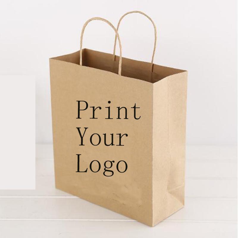 15e70eb33 Compre Sacos De Compras Imprimir Logotipo Personalizado Sacos De Papel  Kraft Logotipo 150g Fazer O Seu De Bootxie, $421.82 | Pt.Dhgate.Com
