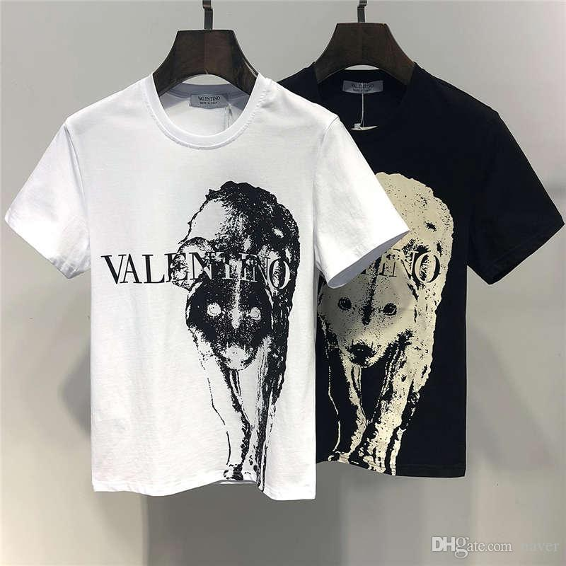 748c578470 2019 Summer New Arrival Top Quality Men's Clothing T-Shirts Valen Print  Fashion Tees Size M-3XL 6401
