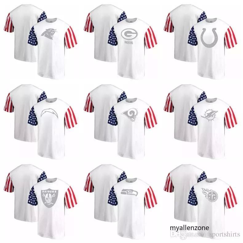fd68471b7 Compre New Panthers Green Bay Packers Camiseta Indianapolis Colts Miami  Dolphins Oakland Raiders Titans Pro Line De Fanatics Stars Stripes A  18.56  Del ...