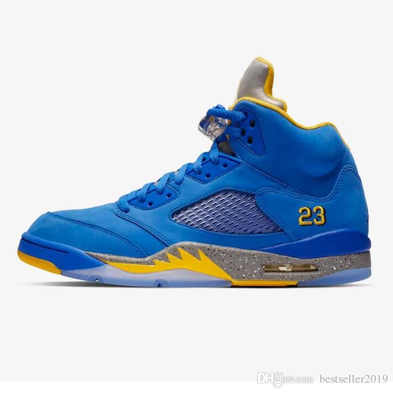 36d0d044356 Compre Zapatillas De Baloncesto Nike Air Jordan 5 Laney JSP 2019 Nueva  Llegada Retro 5s Jumpman Varsity Royal Blue Brand Mujer Hombre Zapatillas  De Deporte ...