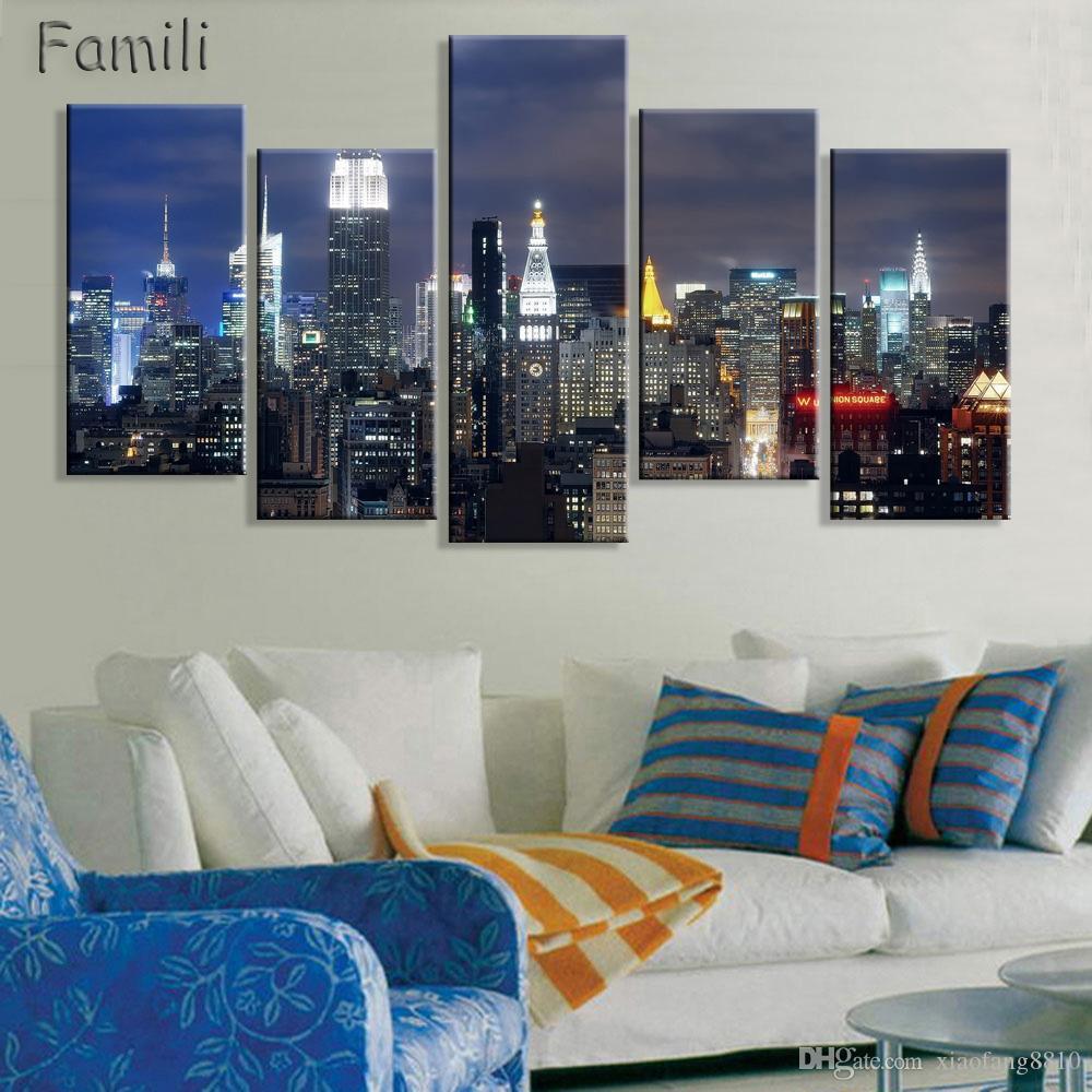 Acheter New York City Toile Peinture Moderne Mur Photos Pour Salon Décor À  La Maison Modulaire Photos Sans Cadre De $9.71 Du Xiaofang8810 | DHgate.Com