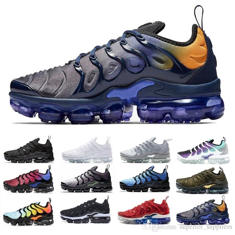 prix le plus bas 5b252 8193c Nike air max TN plus vapormax Nouveau 2018 Marque sport chaussures Air  Coussin TN Pour Hommes Noir Blanc Rouge Hommes Runner Sneakers Homme  Trainers ...