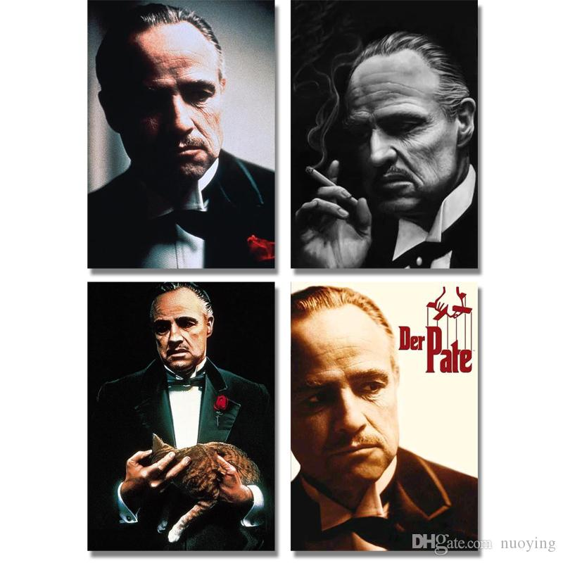 Famous star movie character godfather portrait DIY diamond painting art wall canvas painting bar living room home art painting decoration