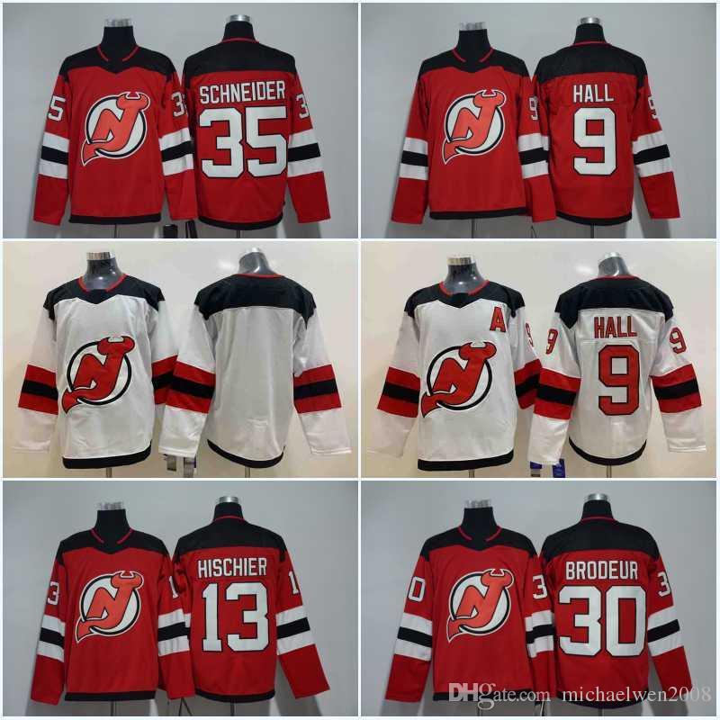 13 Nico Hischier Jersey Men 2018 New Jersey Devils 9 Taylor Hall 35 Cory  Schneider 30 Martin Brodeur Hockey Jerseys Cheap Canada 2019 From  Michaelwen2008 945071f9f
