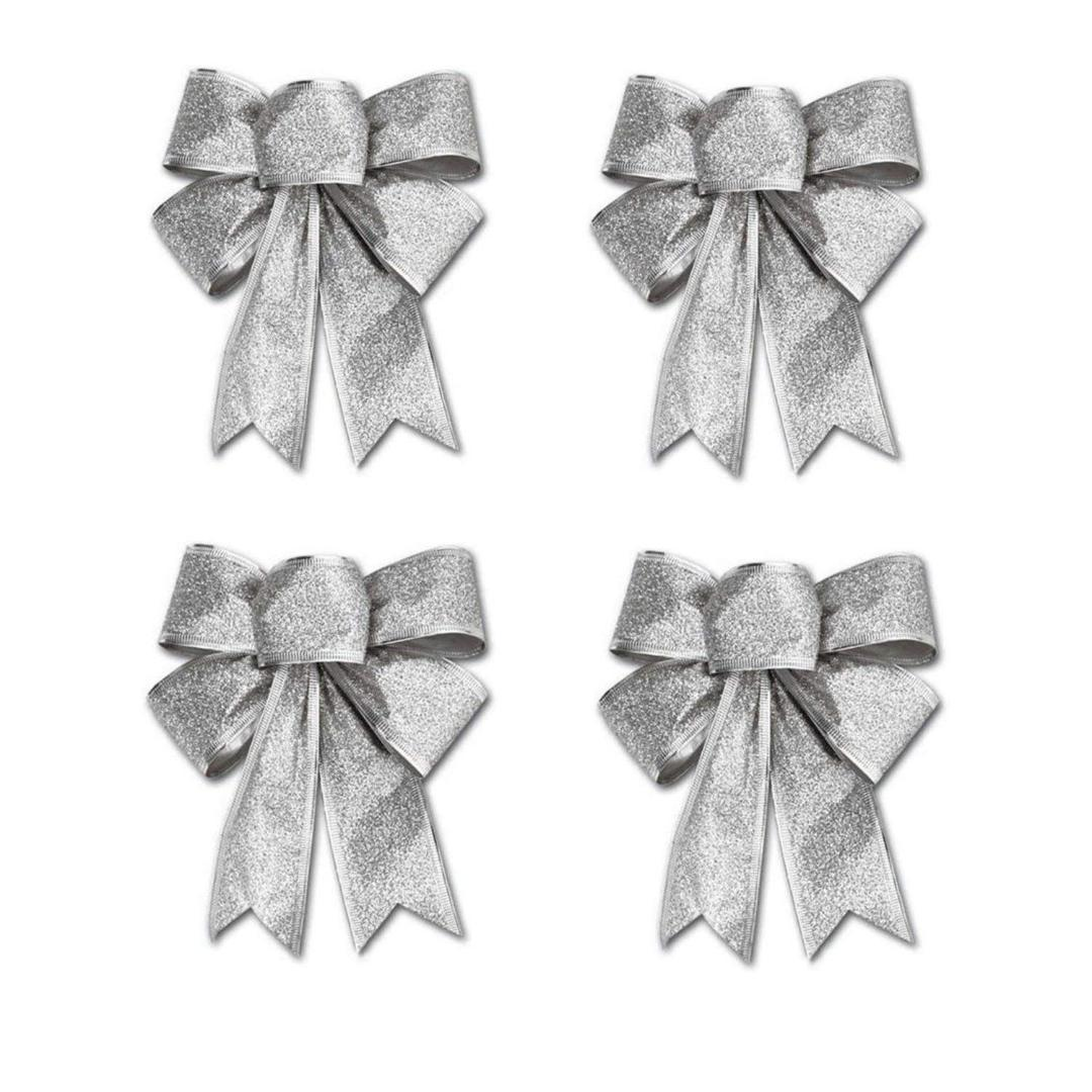 4Pcs 25x18cm Decoration Ornament Hanging Knot Bowknot Butterfly Decore Tree Christmas Tree