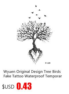 Wyuen New Design Rusty Anchor Coral Waterproof Temporary Tattoo Stickers for Adults Kids Body Art Fake Tatoo for Man Woman T-033