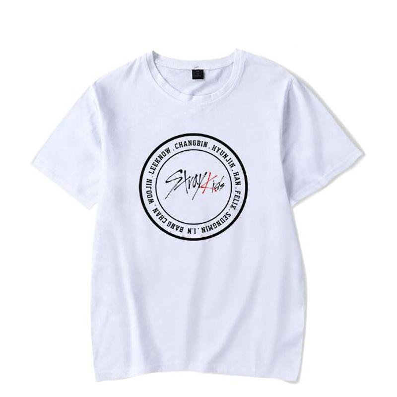 4e46e5593 KPOP Stray Kids Graphic Tee Shirt Femme Korea Pop Idol Straykids Short  Sleeve Hip Hop T Shirt Women Men Summer Tops Fans Clothes T Shirt And Shirt  Shop T ...