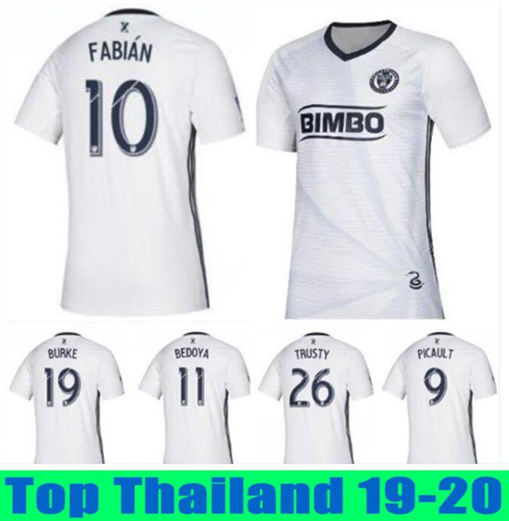 promo code 1c0d9 35012 Thailand Philadelphia Union Soccer jerseys 2019 2020 Primary Replica Bedoya  Burke Fabian Picault Rosenberry Sapong MLS Football t-shirts