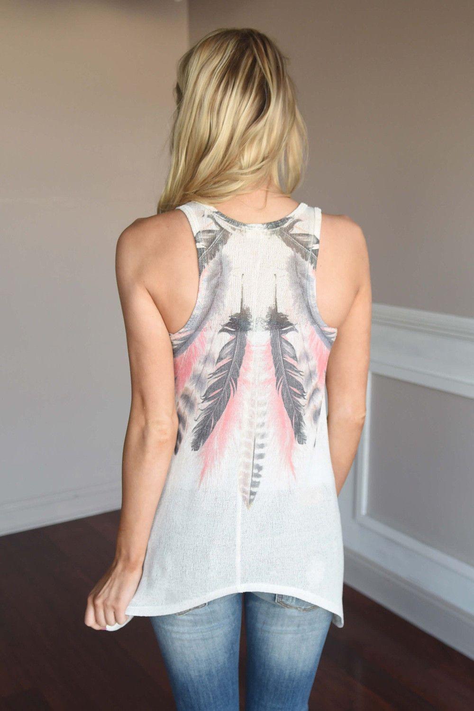 Nueva moda de mujeres sueltan manera de las señoras llano ocasional de la camisa sin mangas elegante de la pluma del verano impresión camiseta de las tapas