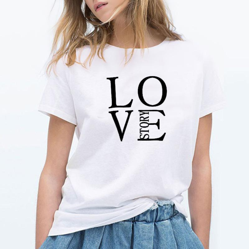 745963025 Love Story T Shirt Women Tshirt Graphic Tees Aesthetic Vintage Camisas  Mujer Plus Size Top Buy Funny T Shirts Online Tee Shirts Funny From Aqueen,  ...