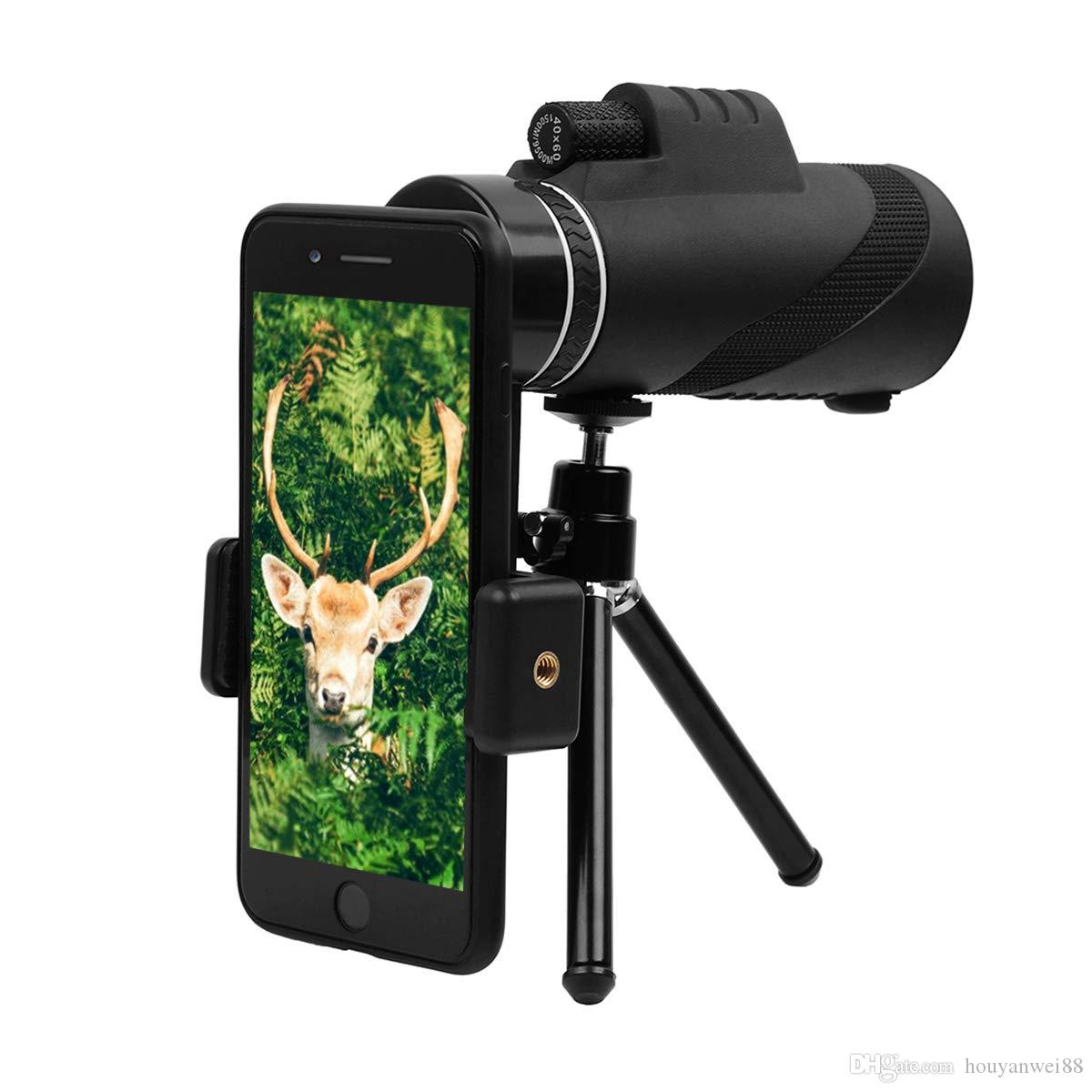Binoculars & Telescopes Binocular Cases & Accessories 40x60 Prism Spotting Scope Waterproof Telescope W/ Tripod Phone Adapter Bag Sale Price