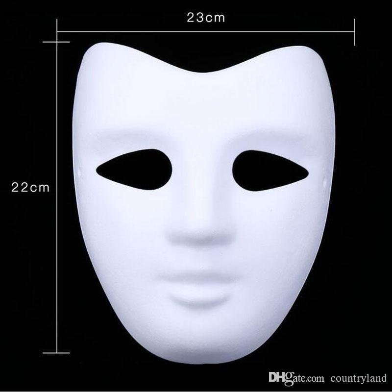 200pcs Blank White Masquerade Mask Women Men Dance Costume Party DIY Mask Halloween Christmas New Year 20180920#