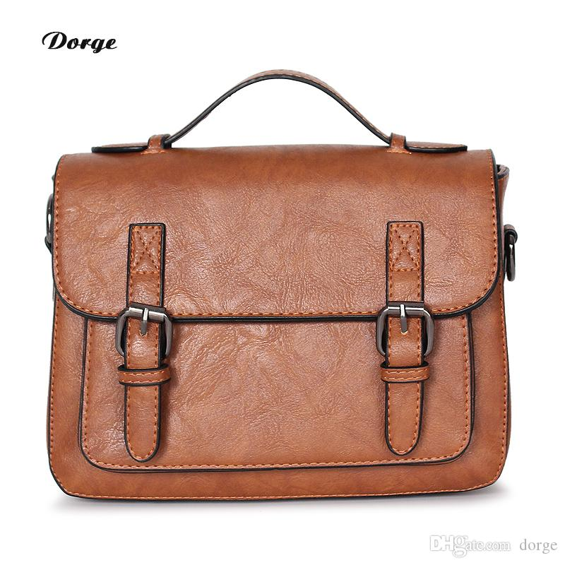 cf56ef58d2 Hand Messenger Bag Stylish Cross Body PU Leather Small Cross Body Retro  Shoulder Bag Designer Handbag Shoulder Bag Leather Flap Cheap Messen  Shoulder Bags ...