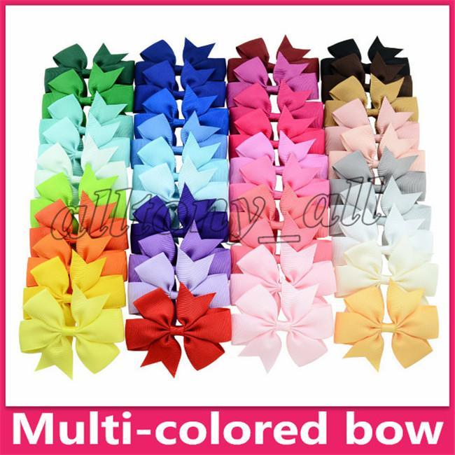 Baby Bow Hairpins Mini Swallowtail Bows Hair grips children Girls Solid Hair Clips Kids Hair Accessories 40 colors Barrettes