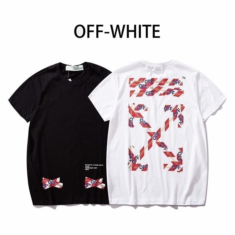 7e4d120d3e42 Male And Female Couple Models Short Sleeves Loose Neutral Red Cordon Stripe  Arrow Print Irregular Short T Rude Tshirts Offensive Tee Shirts From  Kaiyi522