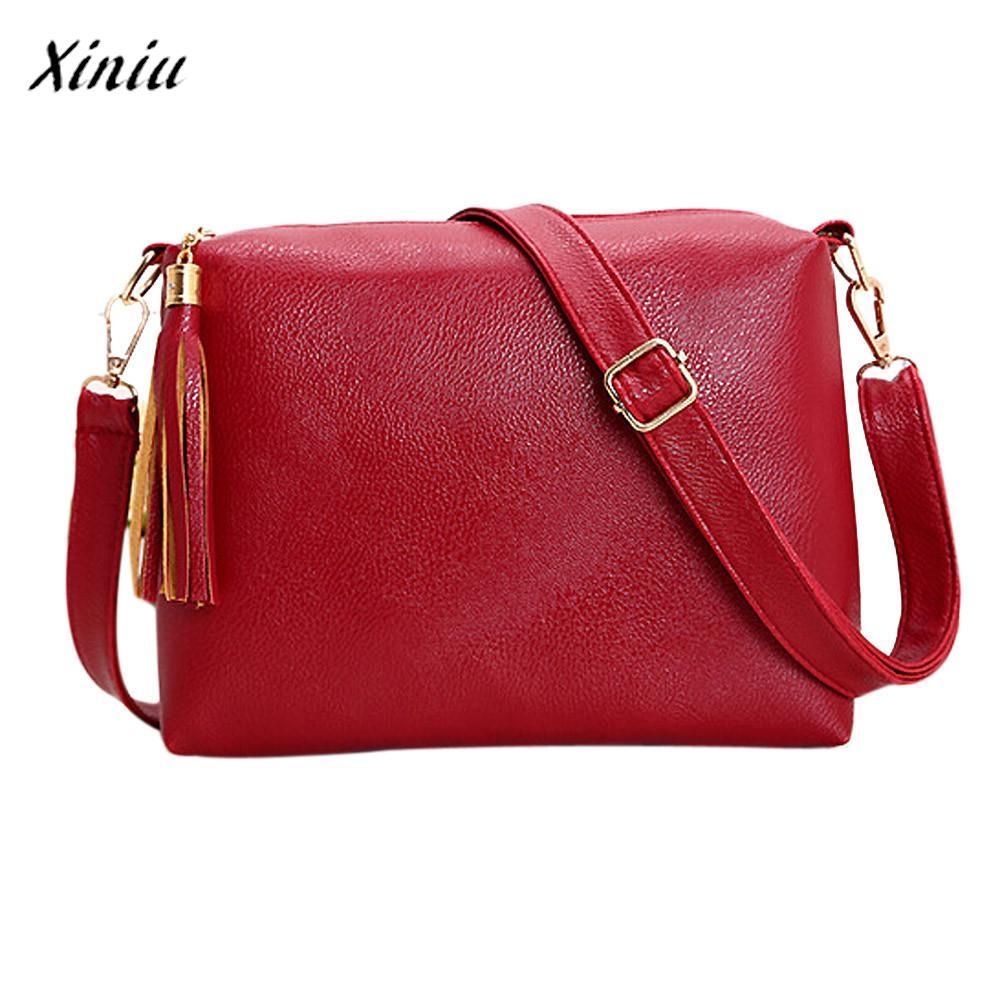 2df28f28724c Xiniu Fashion Luxury Handbags Women Bags Designer Tassel Leather Bag ...