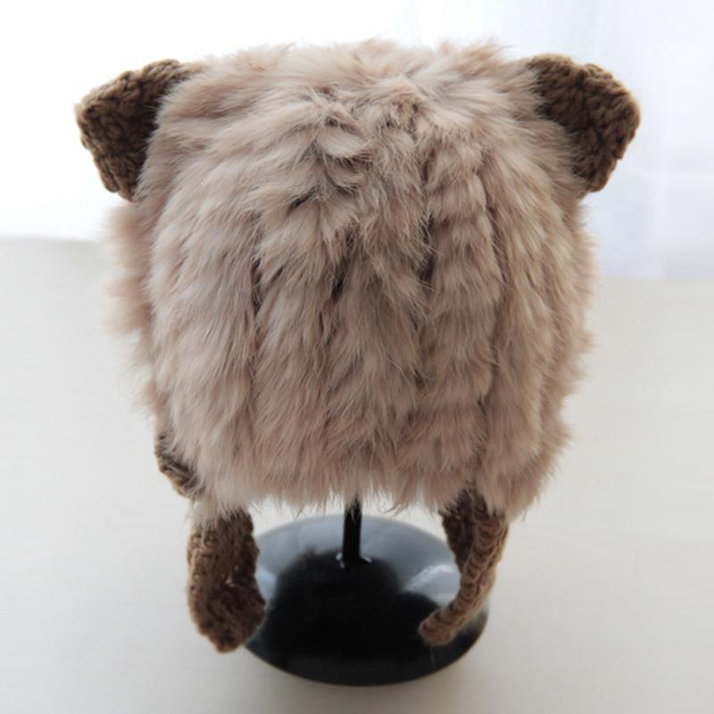 4e866a20139 Cute Cat Ears Rabbit Fur Hat Women Girls Autumn And Winter Warm Fur ...