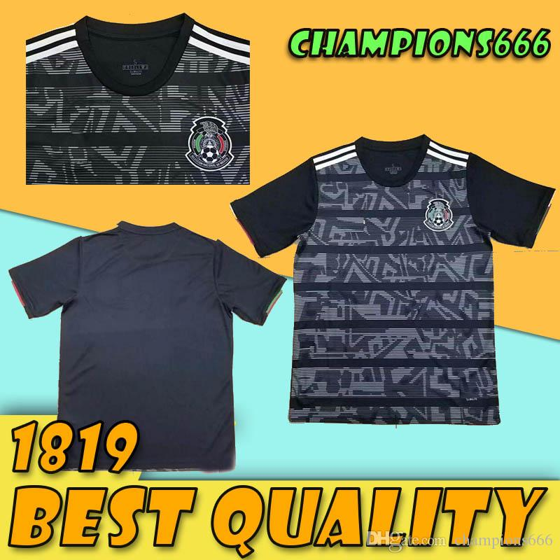 Mexico 2019 Gold Cup Soccer Jerseys A  GUARDADO R MARQUEZ R JIMENEZ  CHICHARITO Thailand National mexico Football Shirt camiseta Méjico Shirt