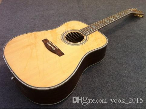 Free shipping Dought 45S standard electric acoustic guitar with solid spruce top guitarra guitars