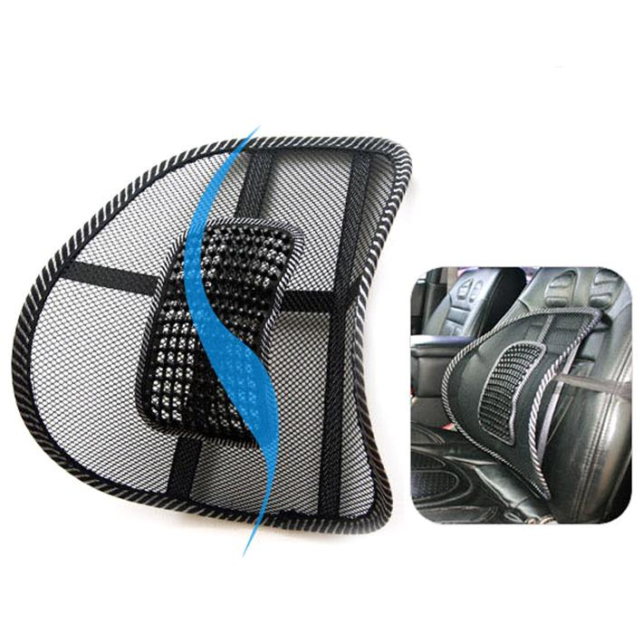 Seat Massage Back Cushion Pad black mesh lumbar back brace Ergonomic desgin support cushion cool for office home car seat chair