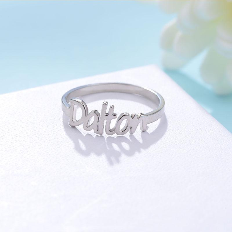 8e5569218 2019 Gold Color Name Ring Unique Design Fashion Ring For Women Hot Sale Custom  Name Rings Popular Personalized Initial Rings In 2018 From Kebe1, ...