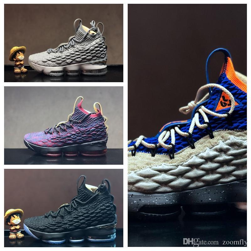 new style 02760 864b8 L015HA 2018 Lebron 15 LBJ15 Nuevos hombres de la llegada XV le 15 IGUALDAD  Zapatillas de baloncesto blancas negras EP Entrenamiento deportiv