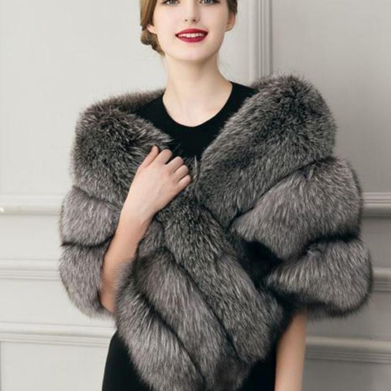 feb626b4d 2019 Warm Faux Fur Shawl Short Paragraph Coat Women Fur Coat Winter Neck  Rabbit Hair Vest Manteau Grande Taille Femme Fausse Fourrure From  Ladylbdcloth, ...