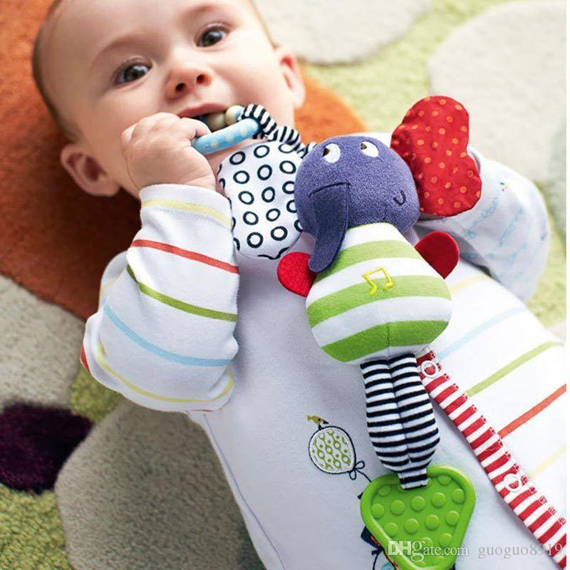 Music Baby Toys Teether Infant Plush Mobile Crib Car Hanging Rattles Stroller