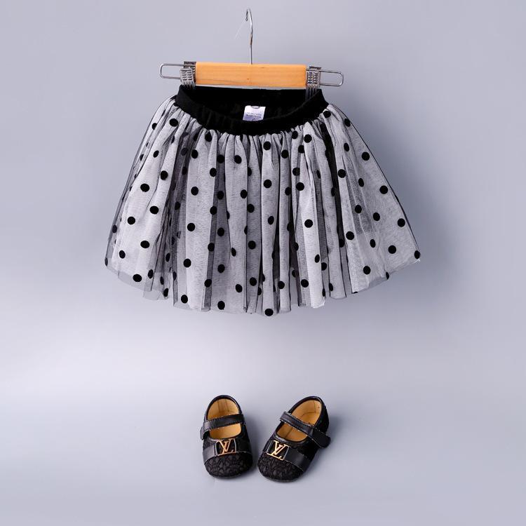 7bbc09c0e 2019 Novedades Niños faldas de lunares de niña Falda bonita para la niña  del niño Ropa Encantadora Verano Otoño Tutu Faldas 1-4T