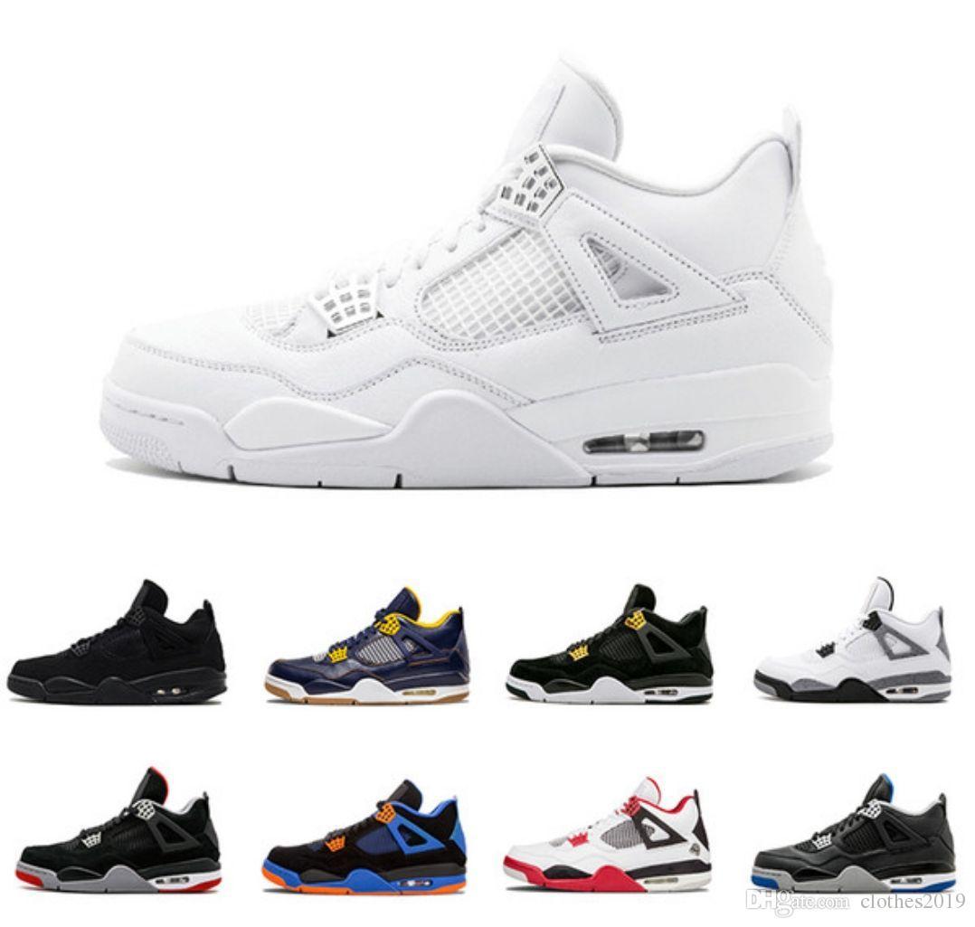 7e318f95143b 2018 New Cheap Men 4S Basketball Shoes Pure Money Premium Black Cat ...