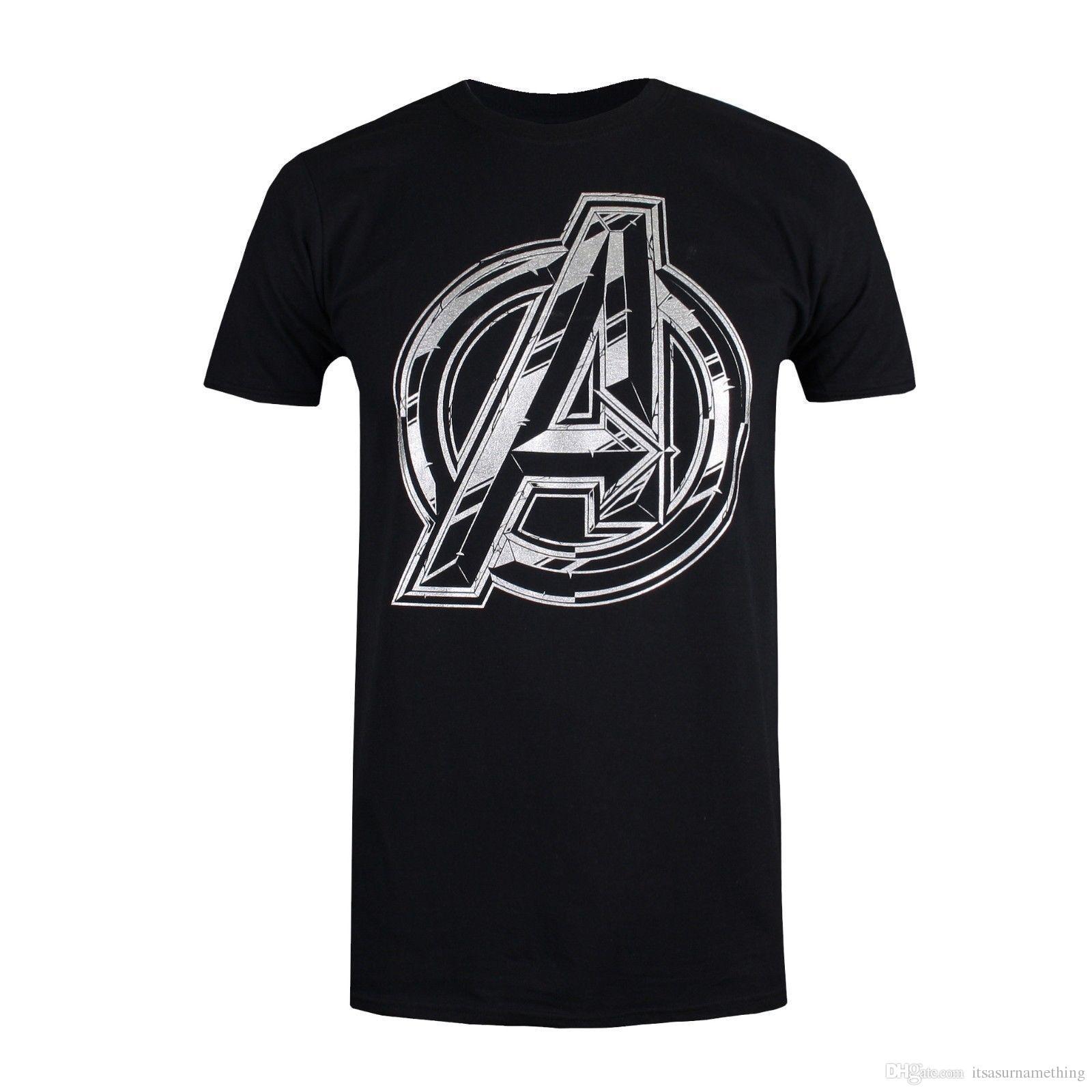 5f1505edd6f Compre Logotipo De Marvel Avengers Infinity War Camiseta Para Hombre Negro  O Blanco Tallas S XXL A $10.06 Del Itsasurnamething | DHgate.Com