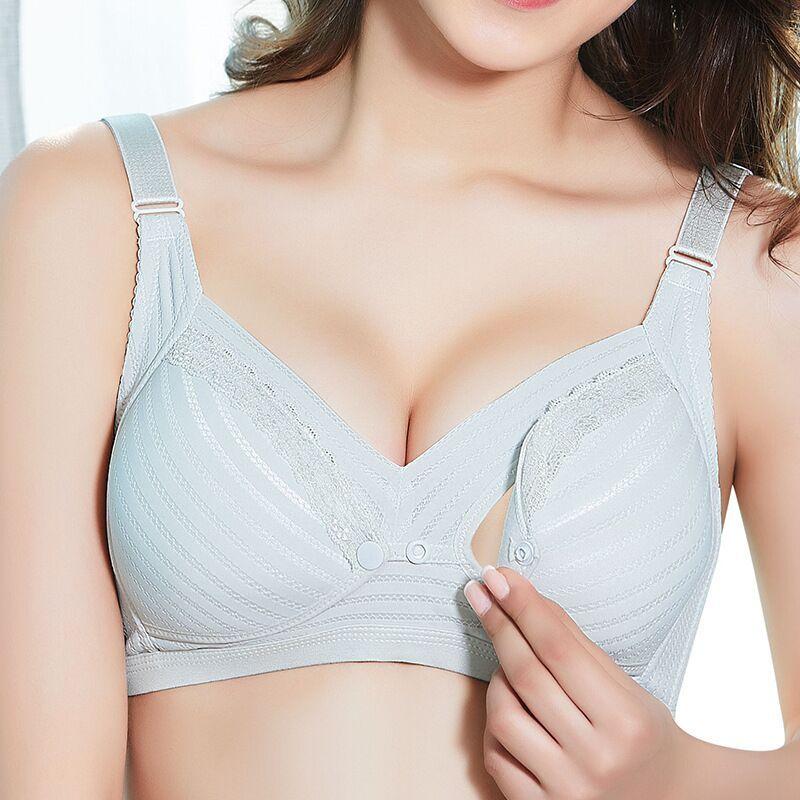 fd713b4f5 2019 2018 New Breast Feeding Bra Front Double Button Maternity Underwear  Gathered To Prevent Sagging Bamboo Fiber Adjustable Bra From Kokoliforever