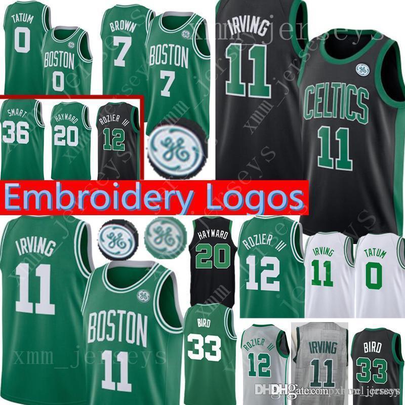 newest collection 84f70 8ffc1 Boston 11 Kyrie Irving Celtics Jersey 7 Jaylen Brown 0 Jayson Tatum 12  Terry Rozier 33 Larry Bird 20 Gordon Hayward 42 Horford Jerseys