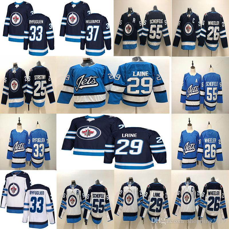 2018 New Mens 29 Patrik Laine Jersey New 26 Blake Wheeler 33 ... ac047d24f