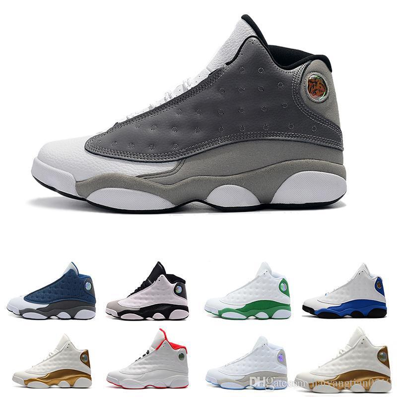 new style 40b6e b0992 Großhandel Nike Air Jordan Aj13 Herren 13 13s Basketball Schuhe Schwarze  Katze DMP Er Hat Spiel Chicago Olive Altitude Playoffs Love Respect Hyper  Royal ...