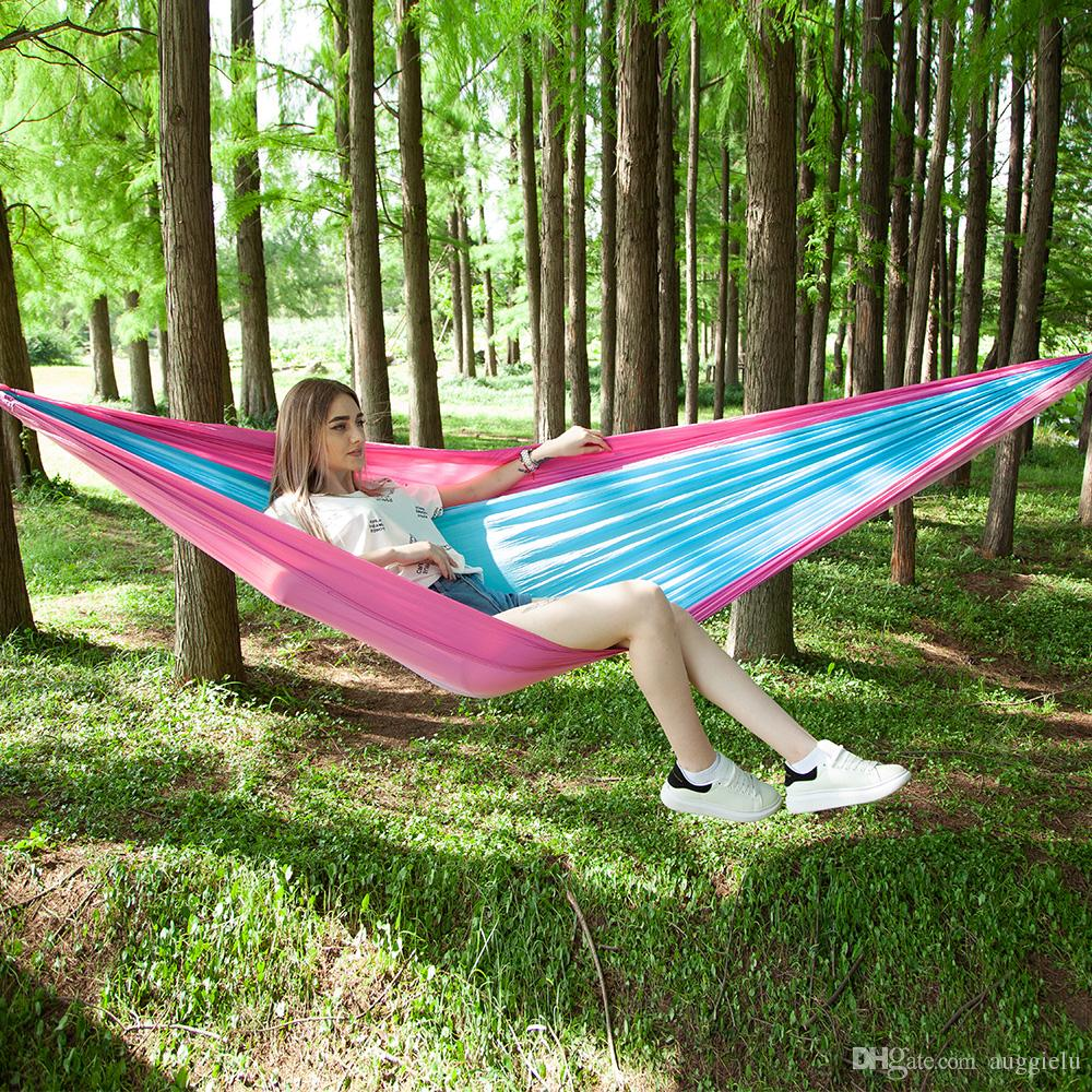 Automatic Quick Opening Hanging Bed With Mosquito Net Outdoor Single And Double Nylon Easy To Use Quick Delivery Sports & Entertainment Sleeping Bags