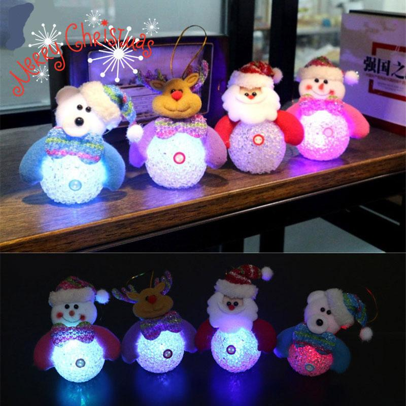 New Year Christmas Decoration for Home accessories Glowing EVA Snowman Nightlight Snowman Christmas Tree gifts Navidad Natal