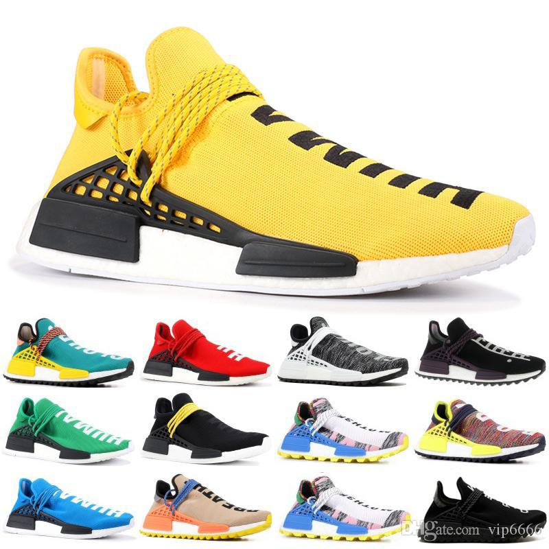 2019 Entrenadores Human Race Zapatillas de running para hombre triple Pharrell Williams Core Negro Blanco presto Sport Designer Shoes Mujer Zapatillas