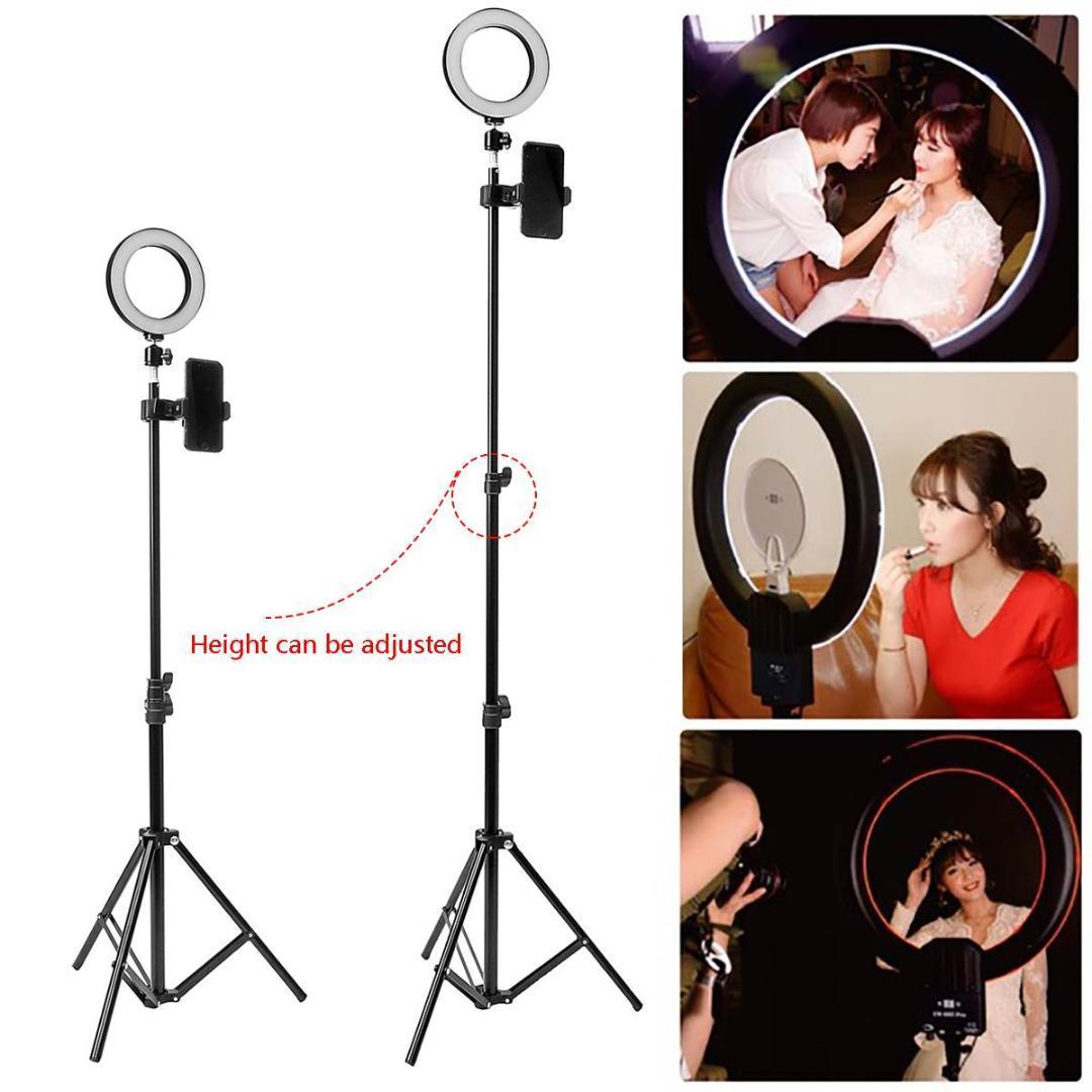 Selfie Stand Usb Anneau Titulaire Photographique Vidéo Kit Led Dimmable Trépied Lampe Téléphone Du Live Avec Photo Maquillage N8yPvmnwO0