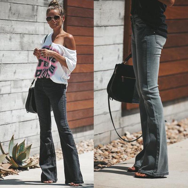 Les femmes de la hanche sexy push Pantalons Fard Slim Pantalons élastiques Tight Pants manches Flare Mode Femma Vêtements