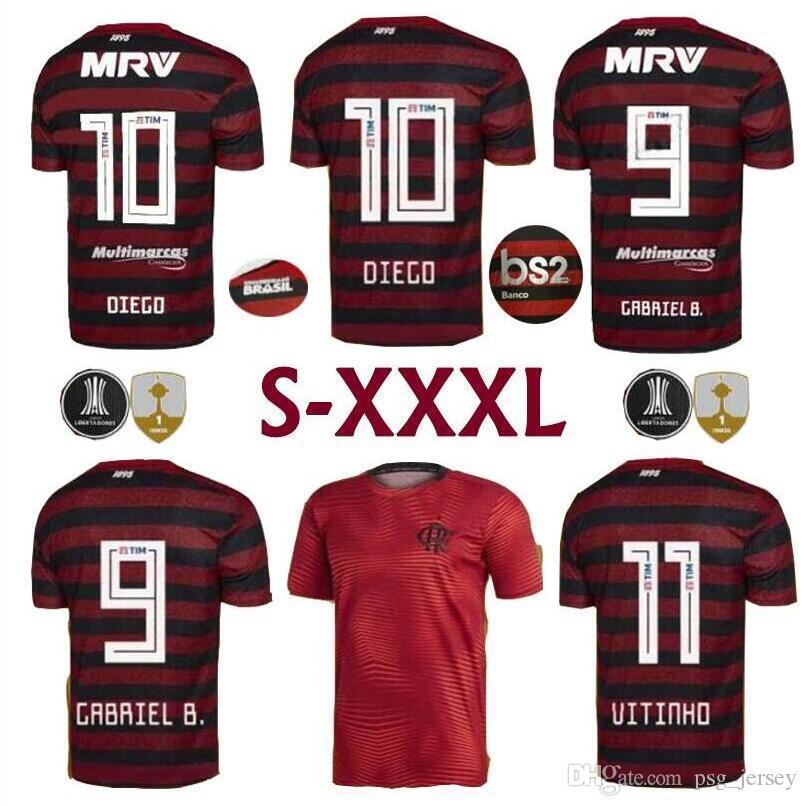 d108410a2eb Camisetas De Fútbol Del Hogar Lejos Del Hogar 2019 2020 S 3XL CR Flamengo  Número De Nombre Personalizado GUERRERO 9 DIEGO 10 Camisetas De Fútbol  Fotbul Por ...