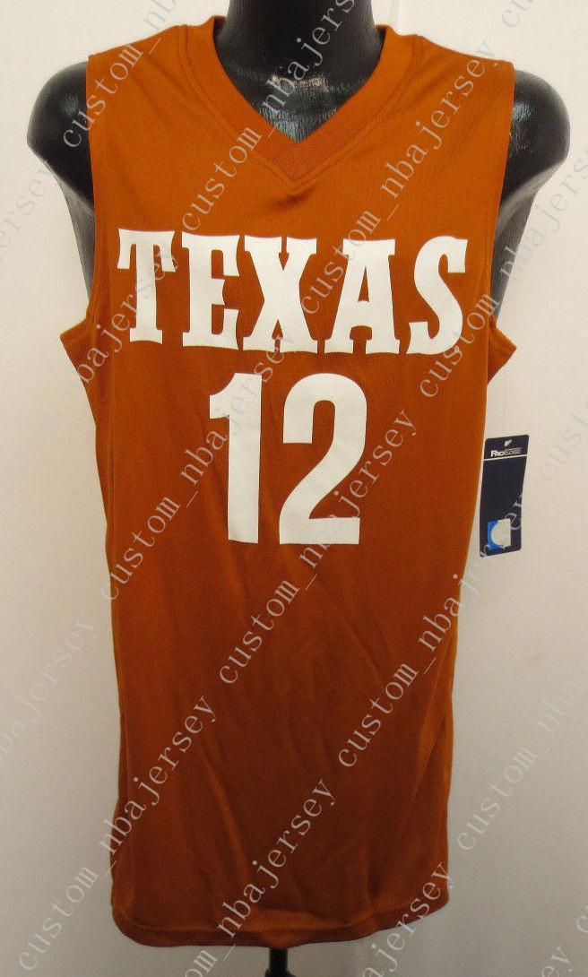 size 40 9667d a20d5 Cheap Mens TEXAS LONGHORNS BASKETBALL JERSEY PROEDGE UT NCAA COLLEGE Custom  any player for any name Embroidery jerseys