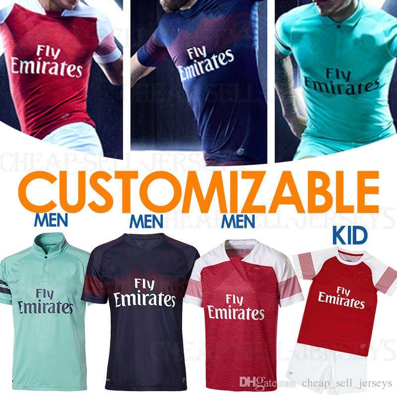 2ca45f94eb3a0 Customized 2019 10 OZIL Arsenals jersey 9 LACAZETTE 14 AUBAMEYANG 2  BELLERIN soccer shirt Soccer Jerseys 19/20 Football uniforms sales