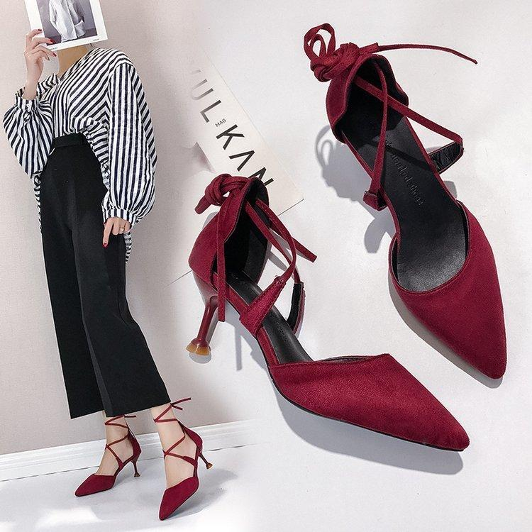 aa818a8a53e3 Dress Shoes Eoeodoit Spring New Fashion Pumps Stable Kitten Heels Women  Sexy Shallow Mouth Pointed Toe Ankle Cross Band Tied Ol Women Shoes Boots  For Men ...