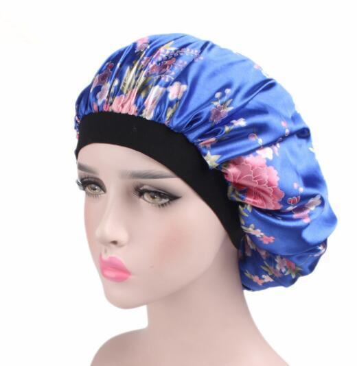 2018 Women S Blue Black Hats Night Cap New Wide Band Hair Loss Chemo Winter  Hats Comfortable Satin Bonnet Ladies Turban Caps Baseball Hat Beach Hats  From ... 4bb63e38f53