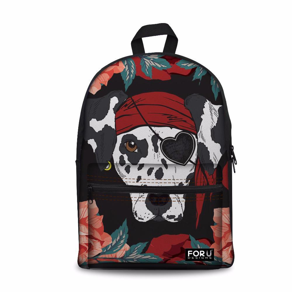885c42d55be9c2 Customized Backpack Women Fashion Dalmatian Printing Large Laptop Schoolbag  For Teen Girls School Bagpack Bookbag Sac A Dos School Bags For Girls  Backpacks ...