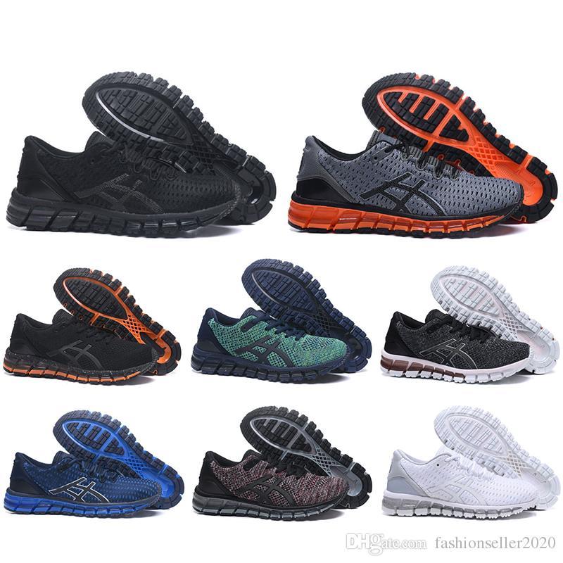 ASICS Chaussures de course Gel Quantum 360 Buffer Knit chaussures Weaves Vamp noir blanc rouge bleu Chaussures de sport, baskets